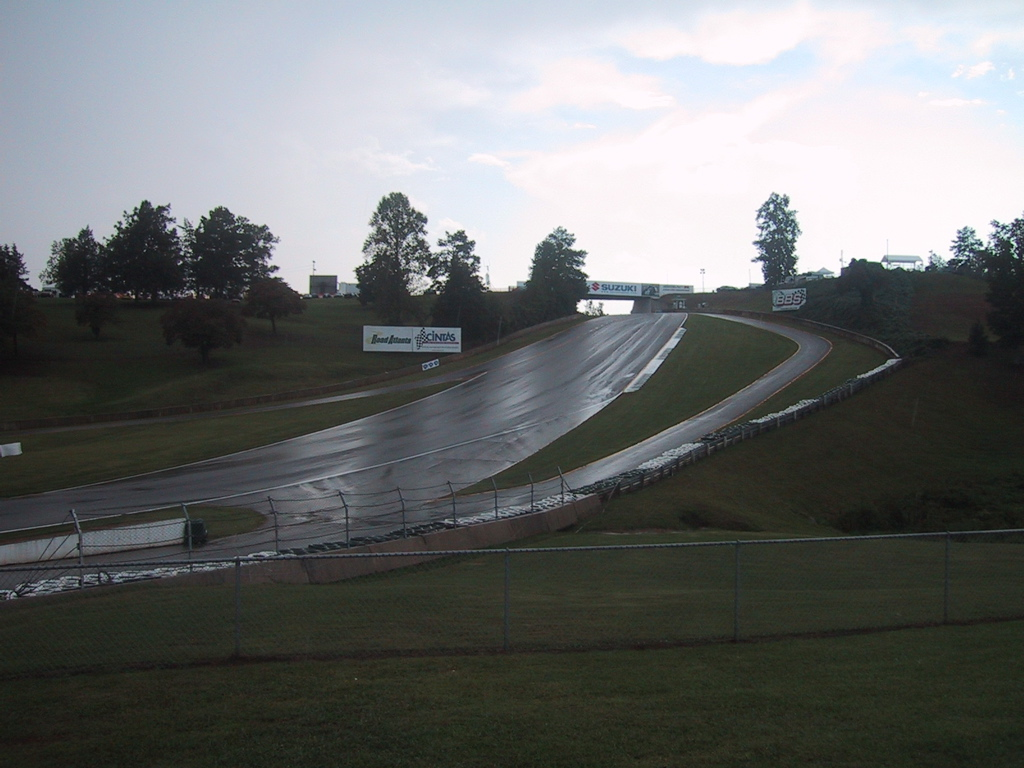 (The downhill run into Turn 12, after Thursday's rain)